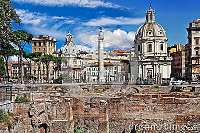 Roman landmarks. Forums