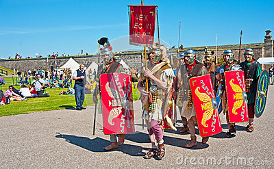 Roman legion at Fort George Editorial Photo