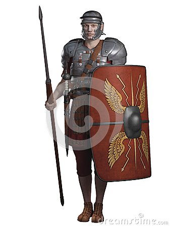 Free Roman Legionary On Guard Royalty Free Stock Images - 32301479