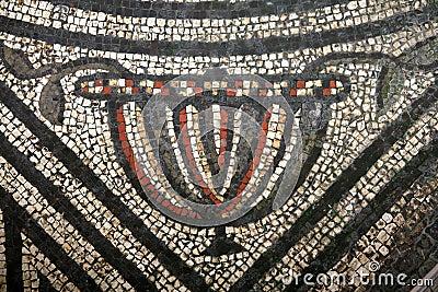 Roman Mosaic Chalice Pattern
