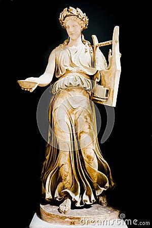 Roman muse of music Editorial Image