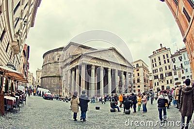 Roman Pantheon Editorial Photography