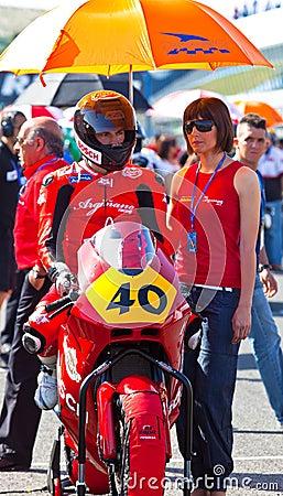 Roman Ramos pilot of Moto2  of the CEV Editorial Stock Photo