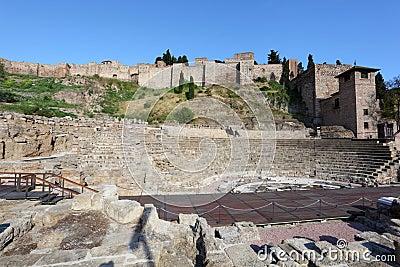 Roman ruin in Malaga, Spain