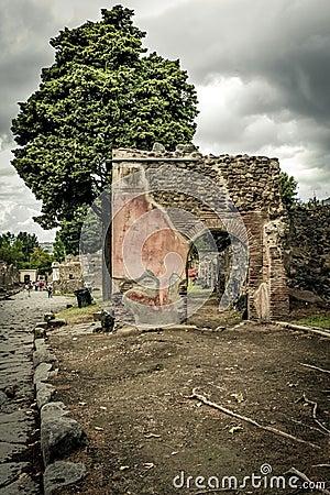 Roman ruin in Pompeii