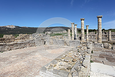 Roman ruins in Bolonia, Andalusia, Spain