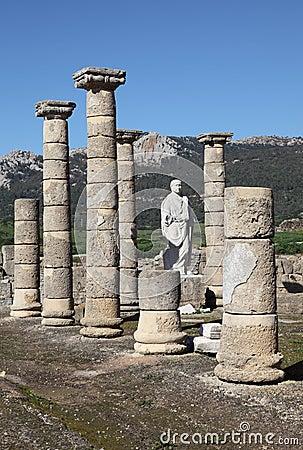 Roman ruins in Bolonia, Spain