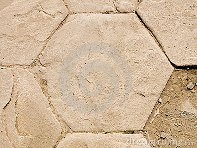 Roman ruins detail hexagon