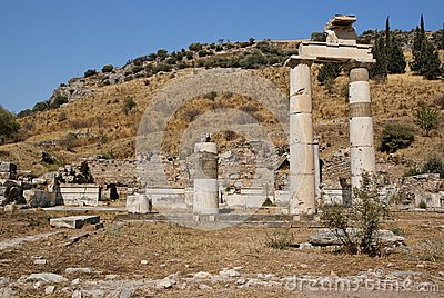 Roman ruins in Ephesus Turkey