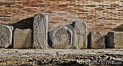 Roman ruins funerary estels Editorial Image