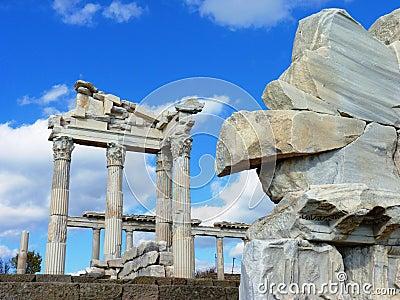 The Roman ruins of Hierapolis in Turkey