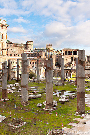 Roman Ruins In Rome. Stock Photos - Image: 23762903
