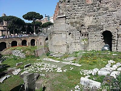 Roman ruins, Rome Italy