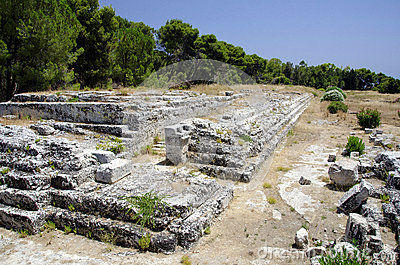 Roman ruins in syracuse