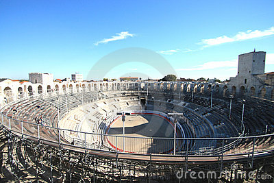 The roman s arena  of Arles