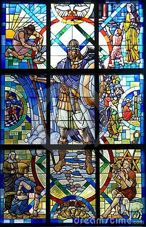Roman Soldier Stained Glass