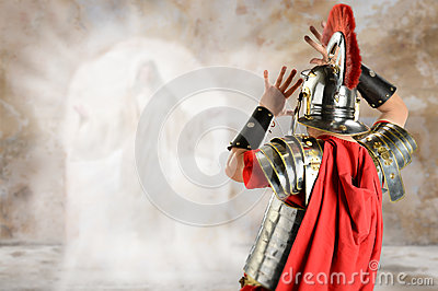 Roman Soldier Surprised by Angel