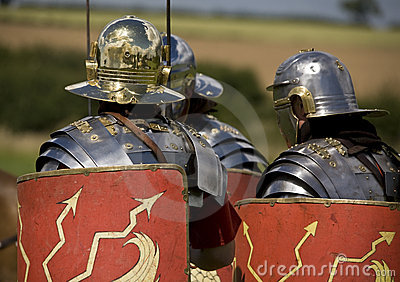 Roman soldiers in armor