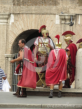 Roman soldiers Editorial Stock Photo