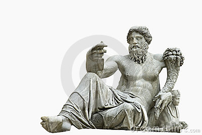 Roman statue isolated
