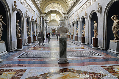 Roman Statues in the Vatican Museum Editorial Image