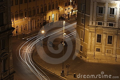 Roman Streets at night