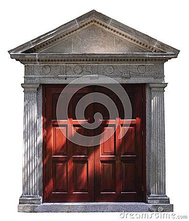 Roman-style door
