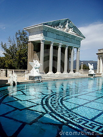 The Roman Pool, Interior Swimming Pool At San Simeon, Hearst