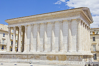 The Roman temple Maison Carree in Nimes