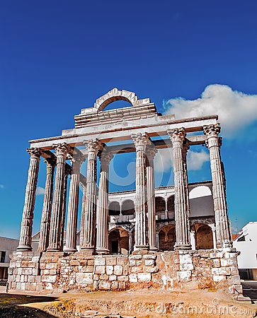 Roman temple in Merida
