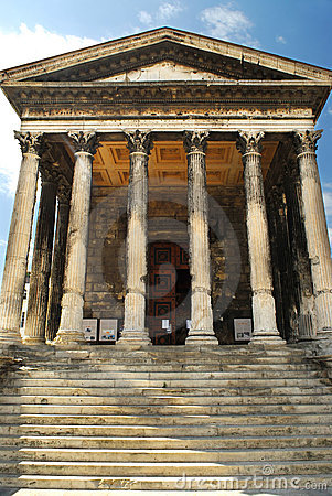 Roman temple in Nimes France