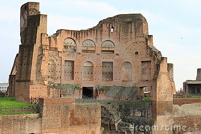 Roman temple in the Palatine hill