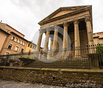 The Roman Temple at Vic