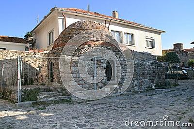 Roman terms ruins. Nessebar, Bulgaria