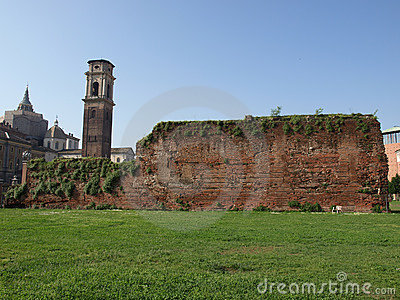 Roman walls in Turin