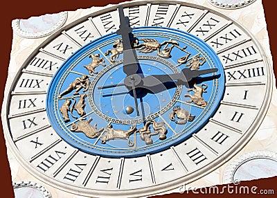 Roman Zodiac Clock