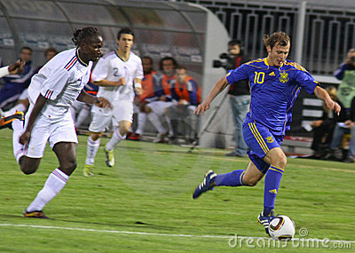 Roman Zozulya of Ukraine (Under-21) National Team Editorial Stock Photo