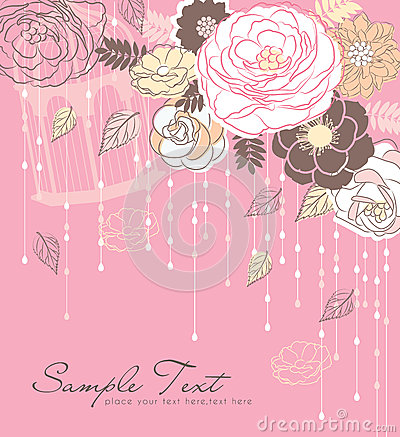 Romance flower background