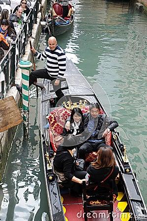 Romance on the gondola Editorial Stock Photo