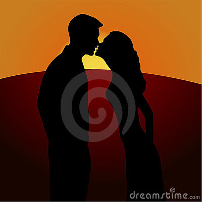 Romance kiss