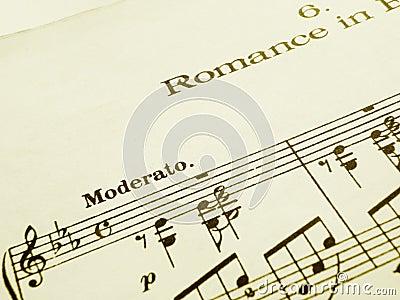 Romance music score