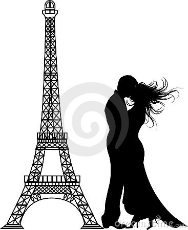 The  romance paris Silhouette