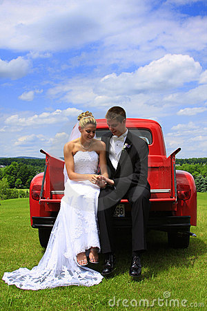 Romance: Two Lovers with Classic Truck