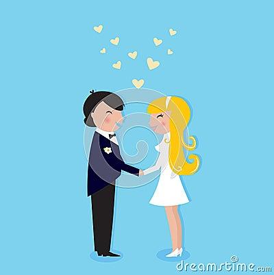 Romance wedding ceremony: Bride and Groom