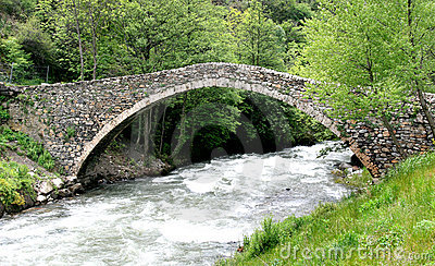 A romanesque bridge in Andorra