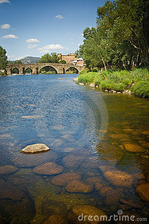 Romanesque bridge in Avila, Spain