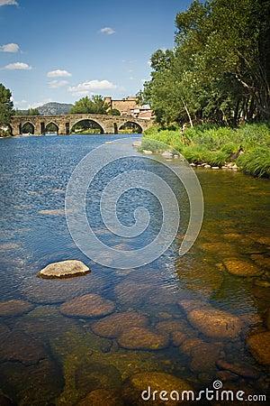 Romanesque bridge in Avila, Spain