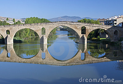 Romanesque bridge At Puente la Reina.