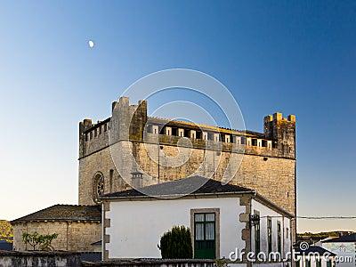 Romanesque church and castle of Portomarin