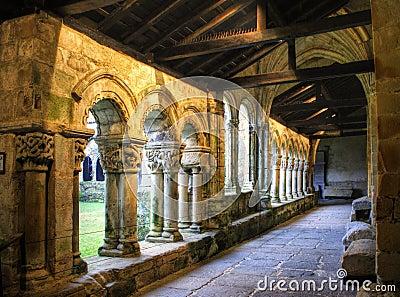 Romanesque cloister of Santa juliana